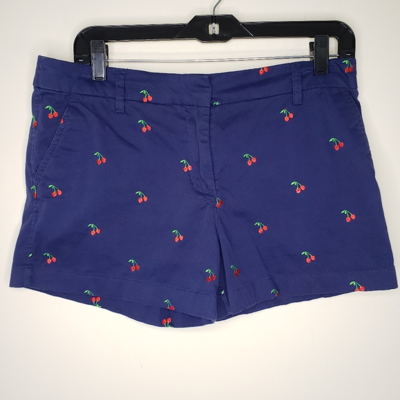 Cambridge Dry Goods Blue Shorts Cherries Size 6
